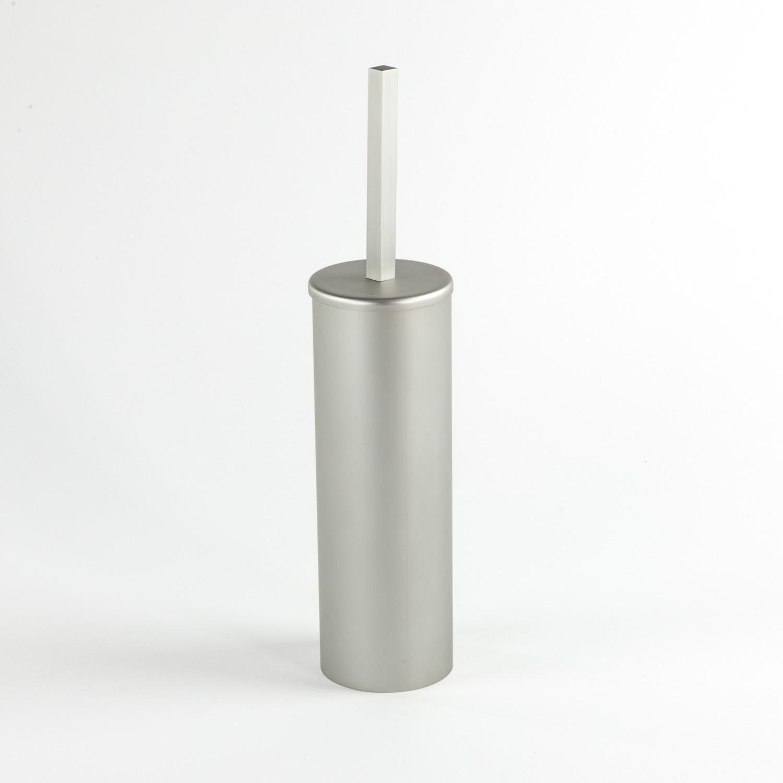 Portasapone Doccia Senza Forare.Scopino Sospeso In Alluminio Anodizzato Cm 8x37 Serie Stick Si Applica Senza Forare Con Biadesivo