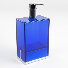 Dispenser sapone da appoggio Lem blu trasparente.