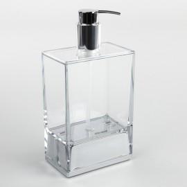 Dispenser sapone da appoggio Lem trasparente.