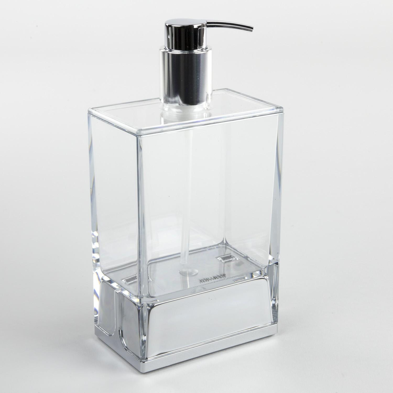 Set Accessori Bagno Tilda.Dispenser Sapone Da Appoggio Lem Trasparente Koh I Noor Shop
