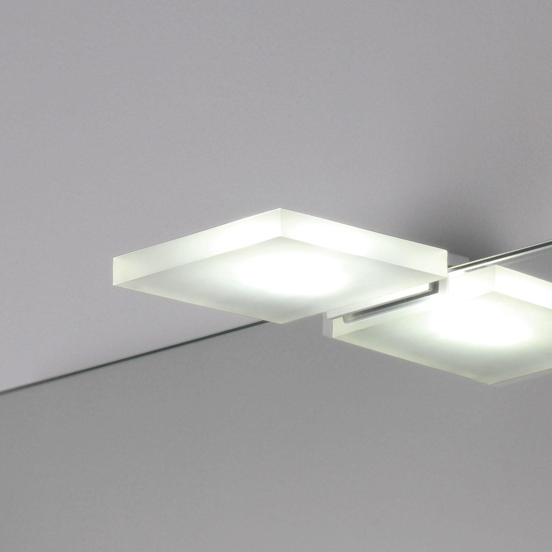 Lampada applique per specchio quadra a led koh i noor shop - Applique per specchio bagno ...
