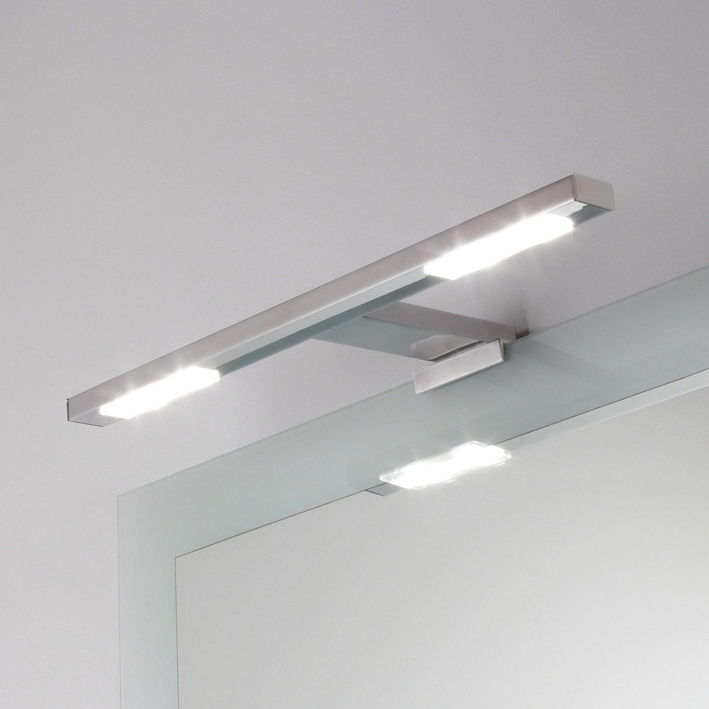 Lampada applique doppia per specchio a led t koh i noor shop - Lampada led per specchio bagno ...