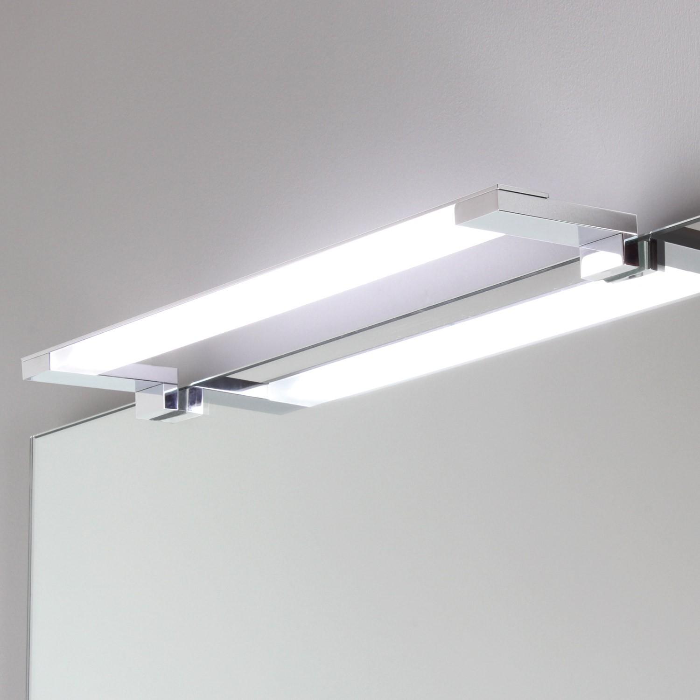 Lampada applique per specchio a led cromata koh i noor shop - Applique per specchio bagno ...