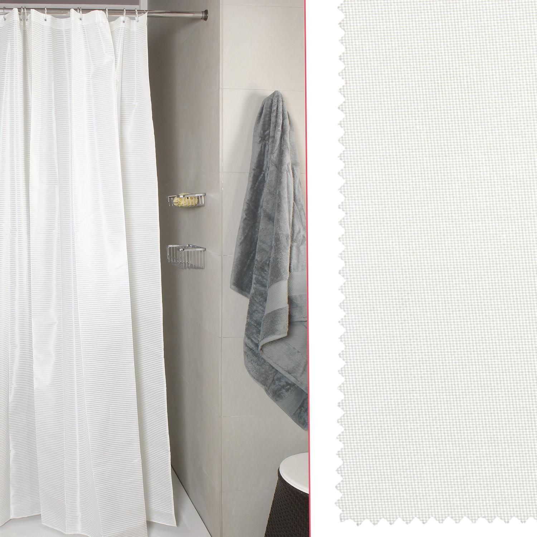 Tenda Per Doccia Canvass Bianco Misura 180x200 Koh I Noor Shop