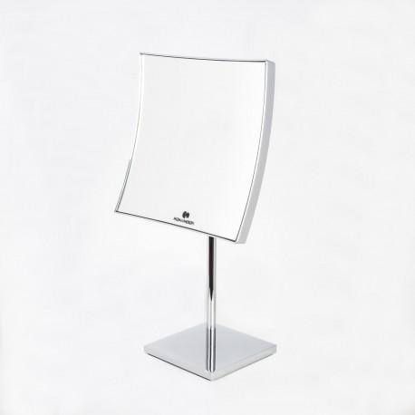 Specchio ingranditore quadrato da tavolo cromo koh i noor shop - Specchio da tavolo ...