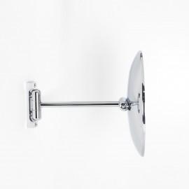 Specchio ingranditore x2  tondo monofacciale da muro cromoØ23. Con 1 braccio.