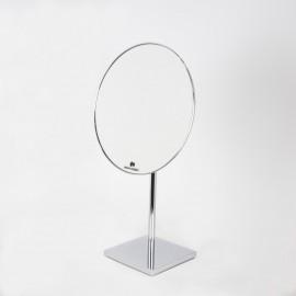 Specchio ingranditore x2 monofacciale tondo da tavolo cromo Ø23.