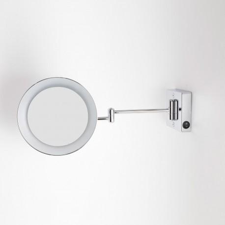 Specchio ingranditore x3 tondo da parete cromo 23 2 braccia illuminazione a led alimentazione - Specchio tondo da parete ...