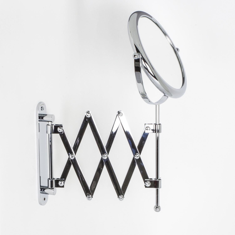 Specchi Ingranditori Da Parete.Specchio Ingranditore X3 Tondo Bifacciale Da Muro Cromo O18 Con