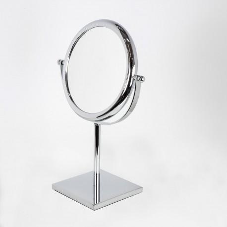 Specchio ingranditore bifacciale tondo da tavolo cromo ø18.