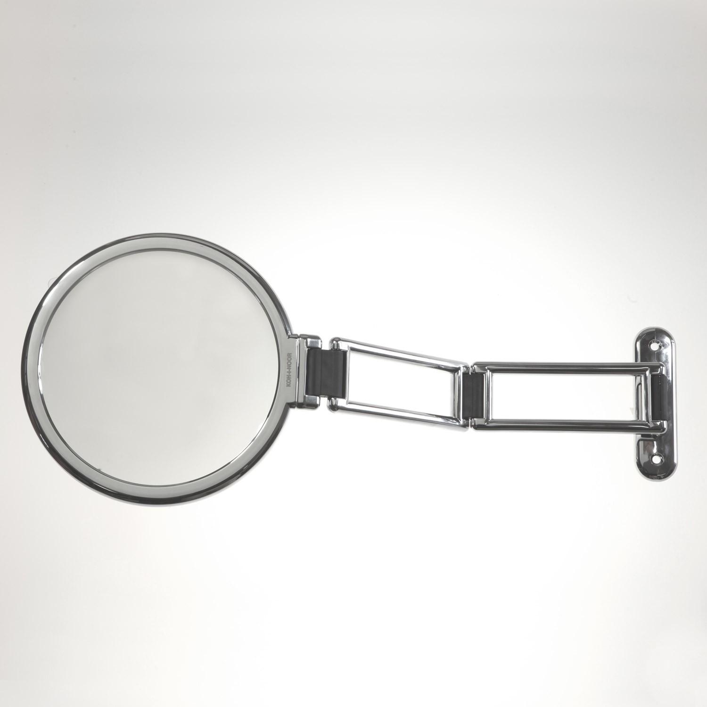 Specchio da muro cromato bifacciale, con ingrandimento ...