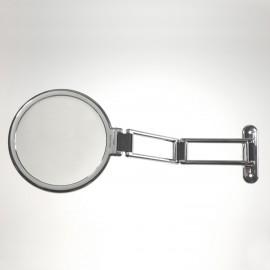 Specchio da muro cromato bifacciale, con ingrandimento. Ingrandimento x6 Ø18cm.