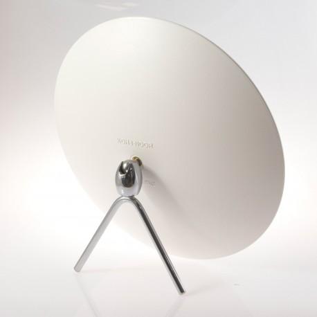 Specchio ingranditore bifacciale da tavolo (Ingrandimento x3) bianco ø23cm.