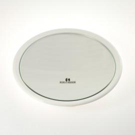 Specchio ingranditore con 3 ventose. Ingrandimento x6 Ø23cm.Colore bianco.