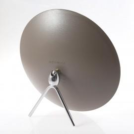 Specchio ingranditore bifacciale da tavolo (Ingrandimento x6) tortora ø23cm.