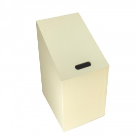Cesto porta biancheria DIAGONAL. Misura unica, colore crema.