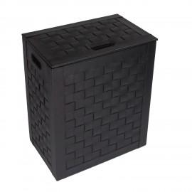 Porta biancheria medio INTRECCI colore. Colore nero.
