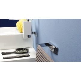 Porta carta igienica/porta asciugamani anello Lem 2.0 cromo tassello.