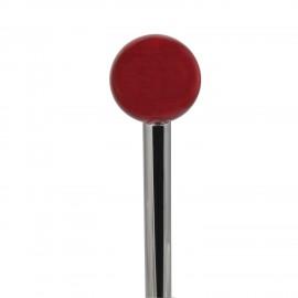 Scopino a  terra FRAC manico con pomolo in cristallo rosso.