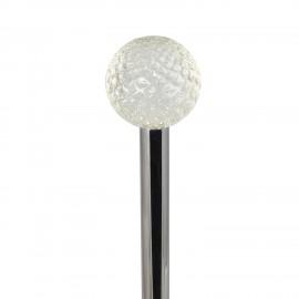 Scopino a  terra FRAC manico con pomolo a pallina da golf in cristallo.