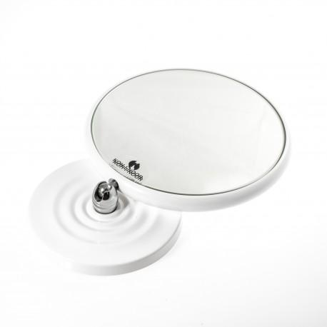 Specchio ingranditore bifacciale da tavolo (Ingrandimento x3) bianco ø18cm.