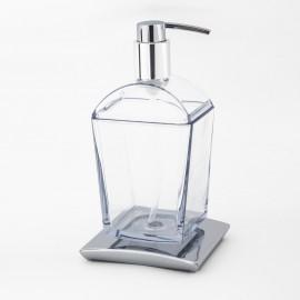 Dispenser sapone da appoggio Tilda cromo.