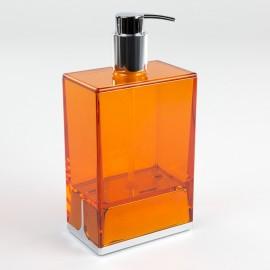 Dispenser sapone da appoggio Lem arancio trasparente.