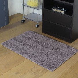 TAPPETO PLUS reversibile, misura 70x120cm. Colore marrone.