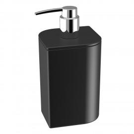 Dispenser sapone liquido in ceramica. Colore nero.