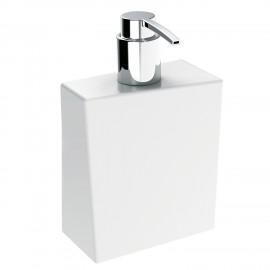 BATHMAN Dispenser sapone liquido in ceramica, di colore bianco.