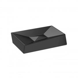 BATHMAN. Porta sapone in ceramica, di colore nero.