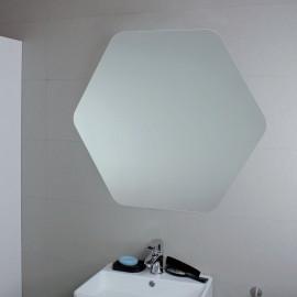 SPECCHIO ESAGONALE FILO LUCIDO D68cm