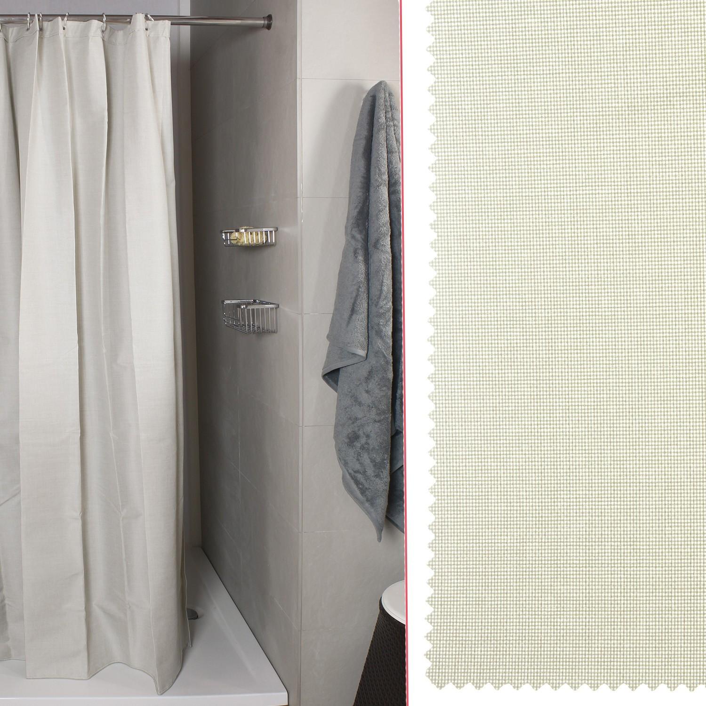 Tenda doccia per vasca linum naturale misura 240x200 koh - Tende vasca da bagno ...