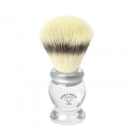 Pennello da barba in tasso sintetico ø21,5 manico colore trasparente