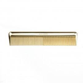 Pettine rado/fitto classico adatto a diverse capigliature. Colore oro.