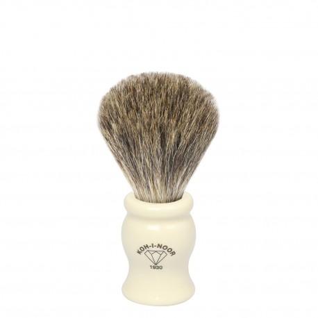 Pennello da barba in tasso grigio Ø19 avorio.