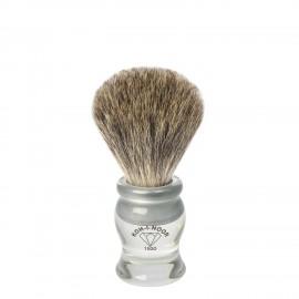 Pennello da barba in tasso grigio Ø19 trasparente.