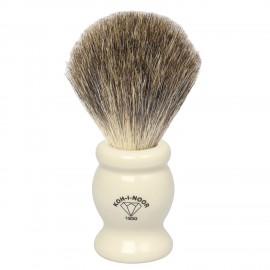 Pennello da barba in tasso grigio Ø22,5 avorio.