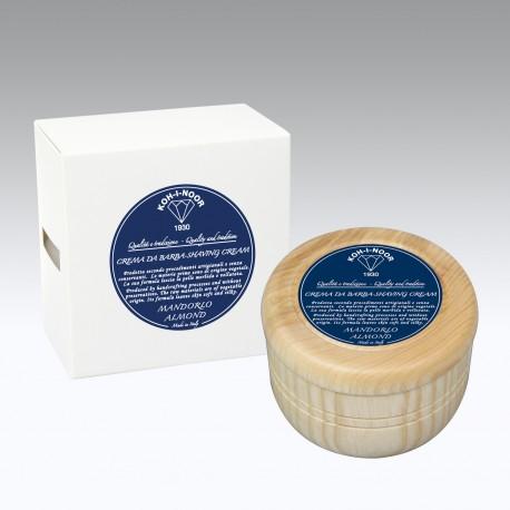Crema da barba al Mandorlo contenitore in legno Gr.140