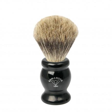 Pennello da barba in tasso I° ø21,5 manico colore nero