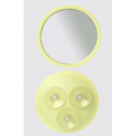 Specchio ad ingrandimento x6 con ventose ø23cm.