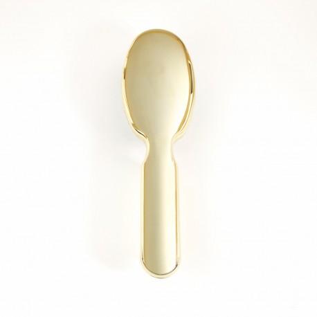 Spazzola pneumatica ovale grande con ciuffi di setola di cinghiale e picco interno in nylon, di colore oro.