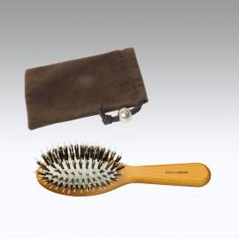 Sacchetto + spazzola borsetta pneumatica riccio misto Legno