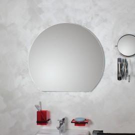 Specchio tondo tronco filo lucido D.70