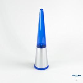 Scopino a terra Kono finitura cromo e blu