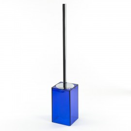 Scopino a terra Gigi finitura blu, manico in ottone cromato