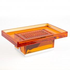 Porta sapone da appoggio Lem arancio trasparente.
