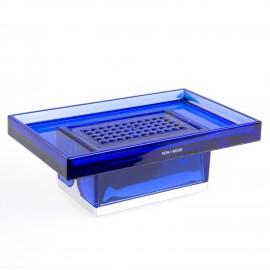 Porta sapone da appoggio Lem blu trasparente.