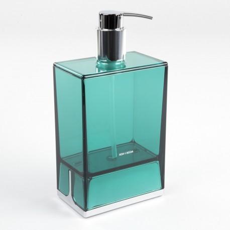 Dispenser sapone da appoggio Lem verde trasparente.