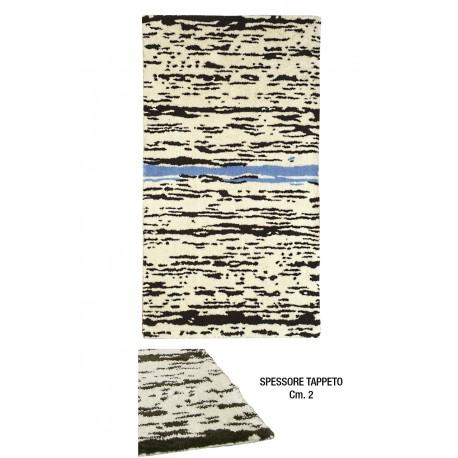 Tappeto RUSCELLO 60X100 BRUNO/AZZURRO